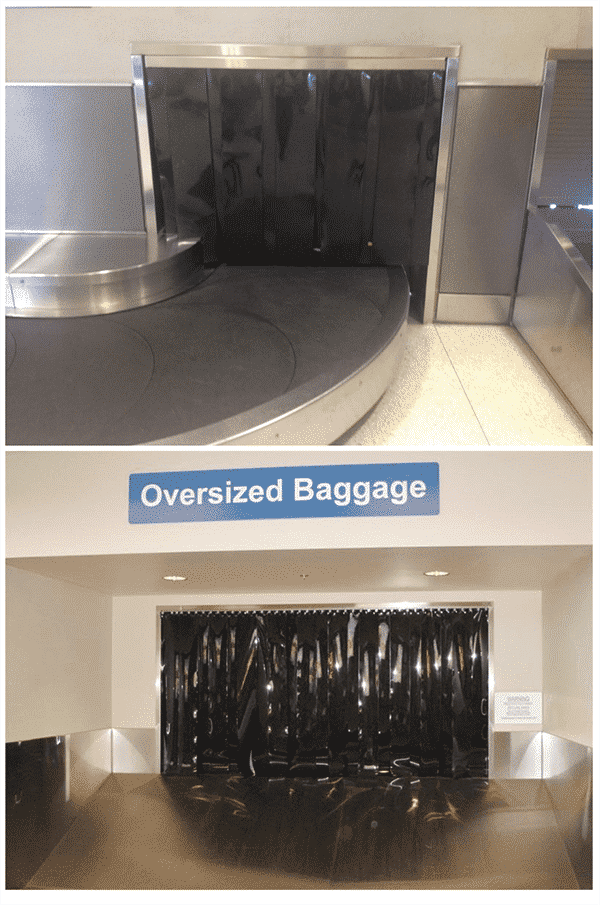 Airport draft curtains by TRAX