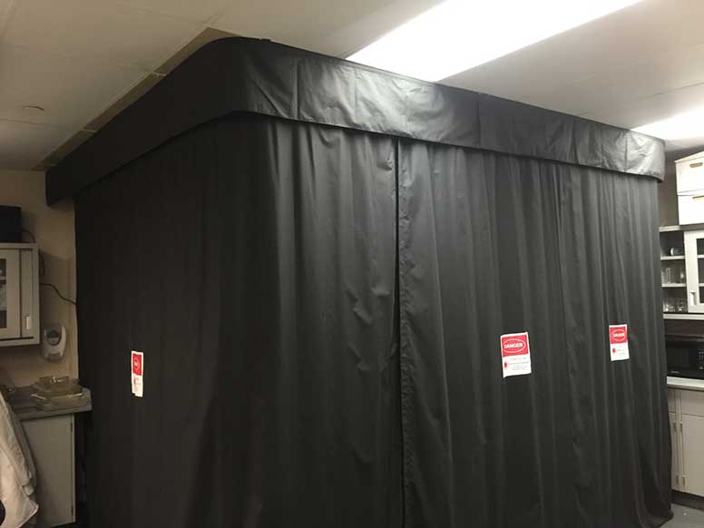 Laser barrier curtains background